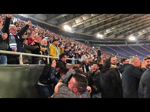 Lazio Fans Going Berserk After a Goal, 2018 vs Salzburg