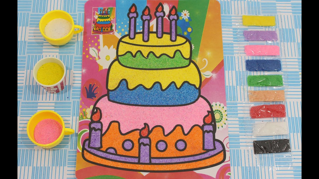 Mewarnai Gambar Kue Ulang Tahun Frozen