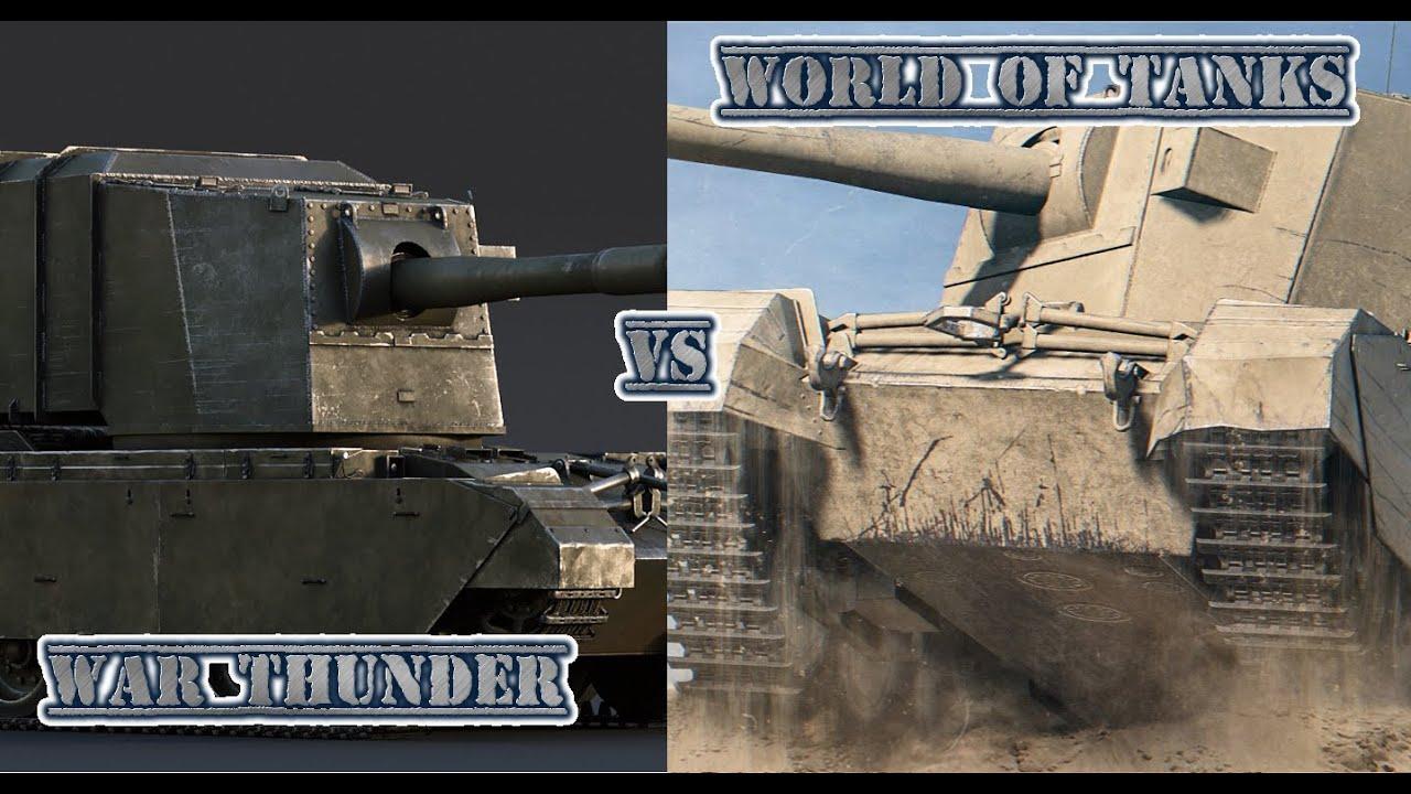 War Thunder vs World of Tanks-Fv4005 Stage II-Porównywarka! - YouTube
