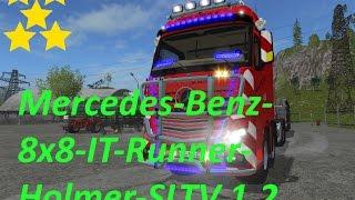 LS 17  Mercedes-Benz-8x8-IT-Runner-Holmer-SLT V 1.2  Link:https://www.modhoster.de/mods/mercedes-benz-8x8-it-runner-holmer-slt#description http://www.modhub.us/farming-simulator-2017-mods/mb-8x8-it-runner-holmer-slt-v1-2/