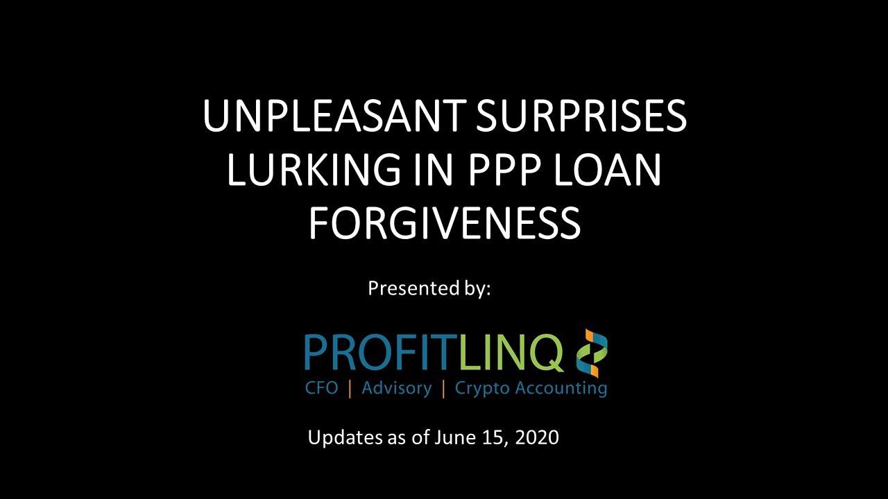 Unpleasant surprises in PPP Loan Forgiveness