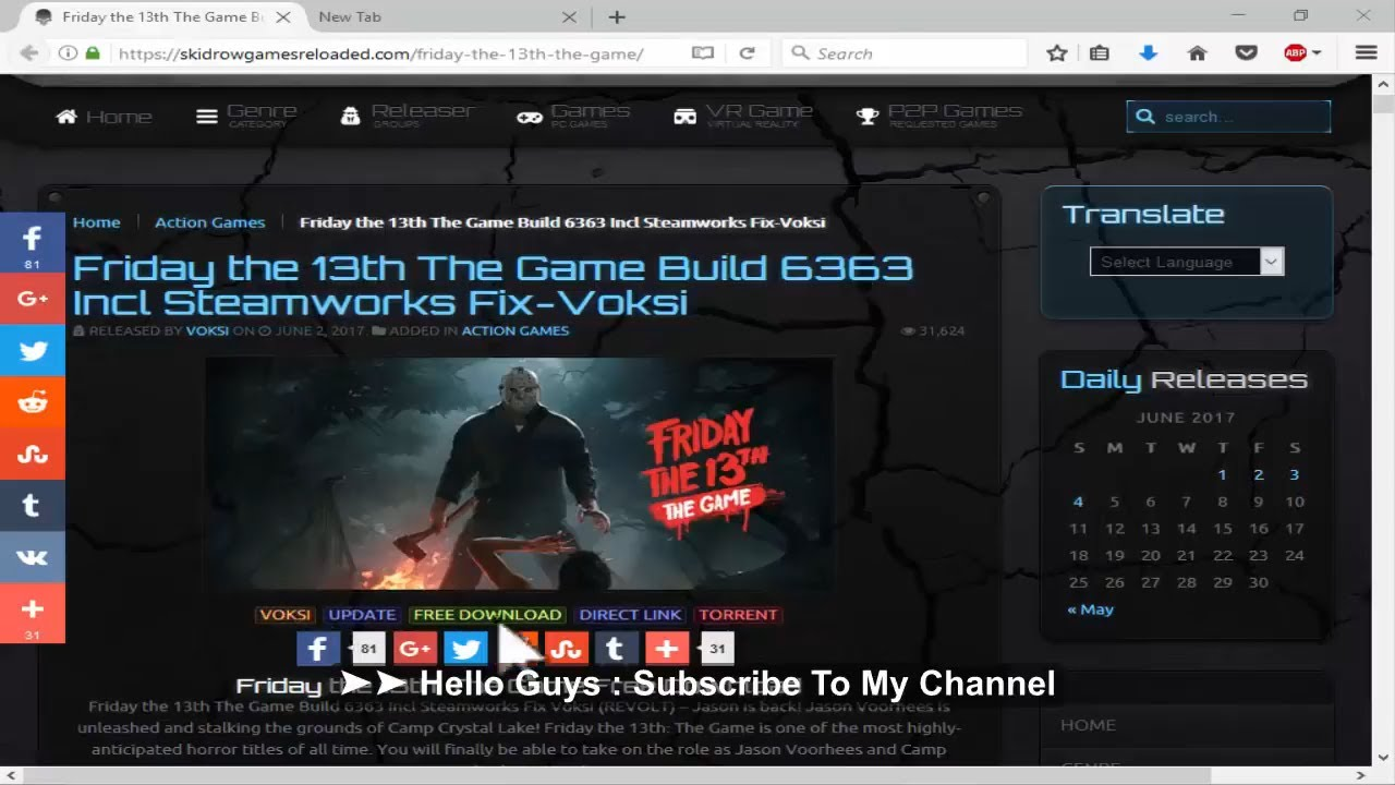 Friday The 13Th The Game SteamWorks Fix V3 Latest Crack | All Multiplayer  Online Error Fixed