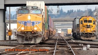 Vancouver Crossings: Switching in BNSF Vancouver Yard, Washington