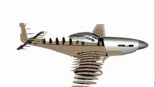 North American P-51d Mustang Rc Model Plan