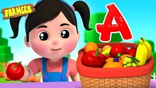 I Like To Eat Apples And Bananas | Children Songs And Videos | Kids Cartoons
