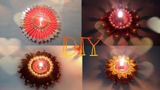 DIY Crafts: 4 Easy DIY Diwali Diya Decoration Ideas using quilling strips - How to create Diya!