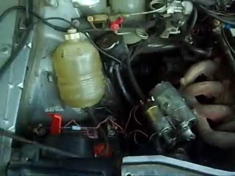 Probando el burro de arranque. Renault 18