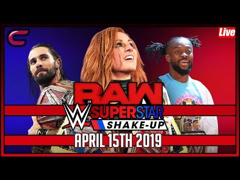 WWE RAW Superstar Shake-up Live Stream Full Show April 15th 2019 Live Reaction Watch Along Conman167