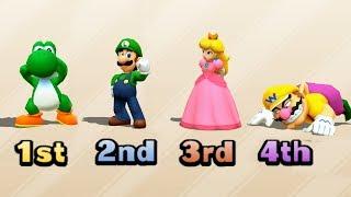 Mario Party The Top 100 - Luigi vs Yoshi vs Wario vs Peach Very Hard Difficult| Cartoons Mee
