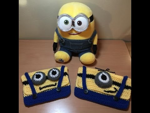 How To Crochet A Minion Pencil Case Tutorial - YouTube