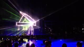 Laser show in Aquacity Poprad, Slovakia HD (21.9.2013)