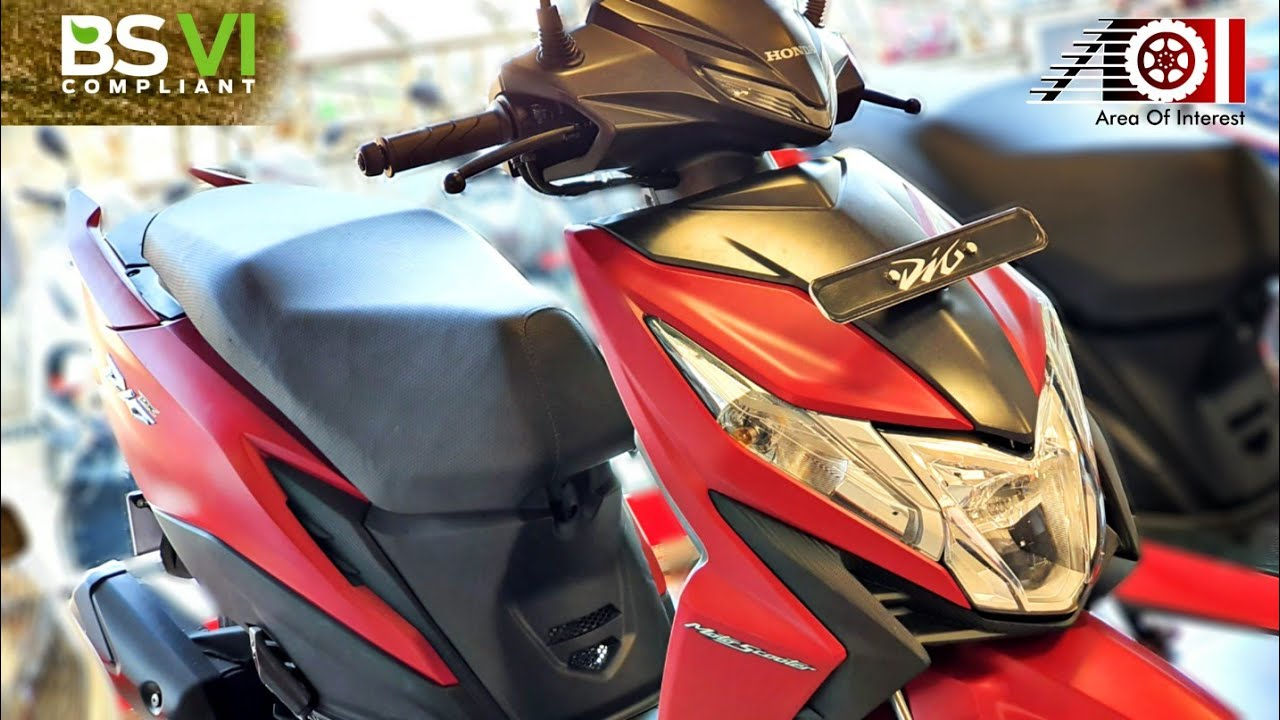 2020 Honda Dio Bs6 Facelift Deluxe Matte Red Price Mileage