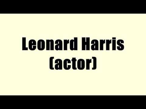 Leonard Harris (actor)