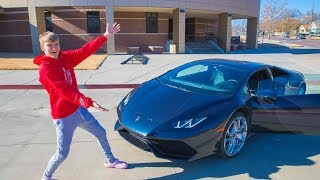 Surprise Lamborghini Ride From School!!