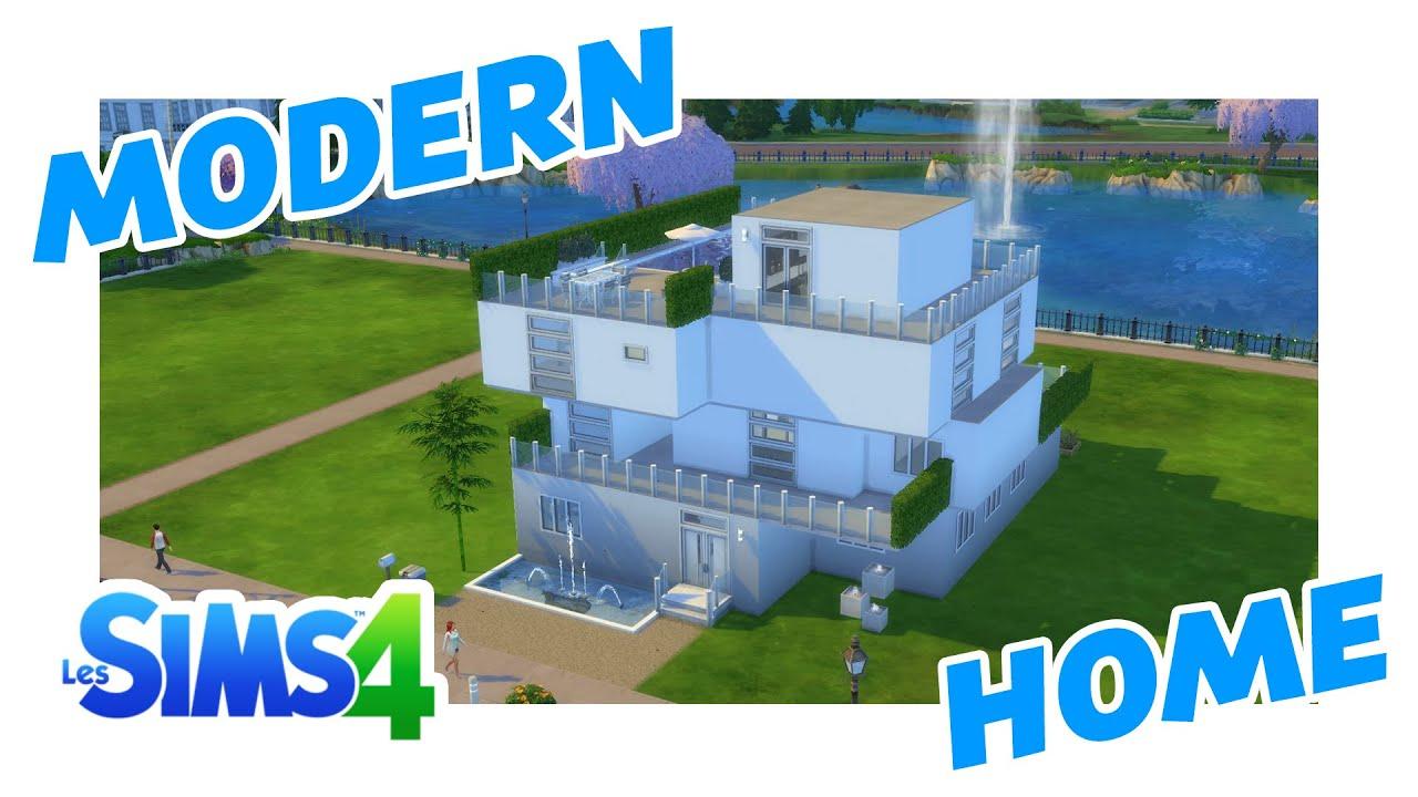 Sims 4   Modern Home   Maison moderne   Gameplay   i7 6700k /GTX 980 ...
