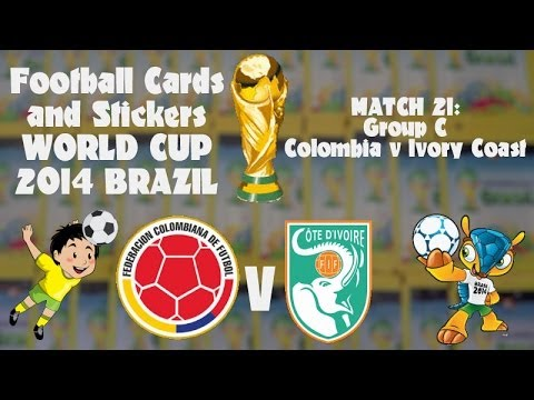 FOOTBALL CARDS & STICKERS WORLD CUP 2014 ☆ MATCH21 COLOMBIA v IVORY COAST ☆ panini AXL packs opening