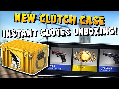 CS:GO - New Clutch Case! - WORLDS FIRST CLUTCH GLOVES UNBOXED?