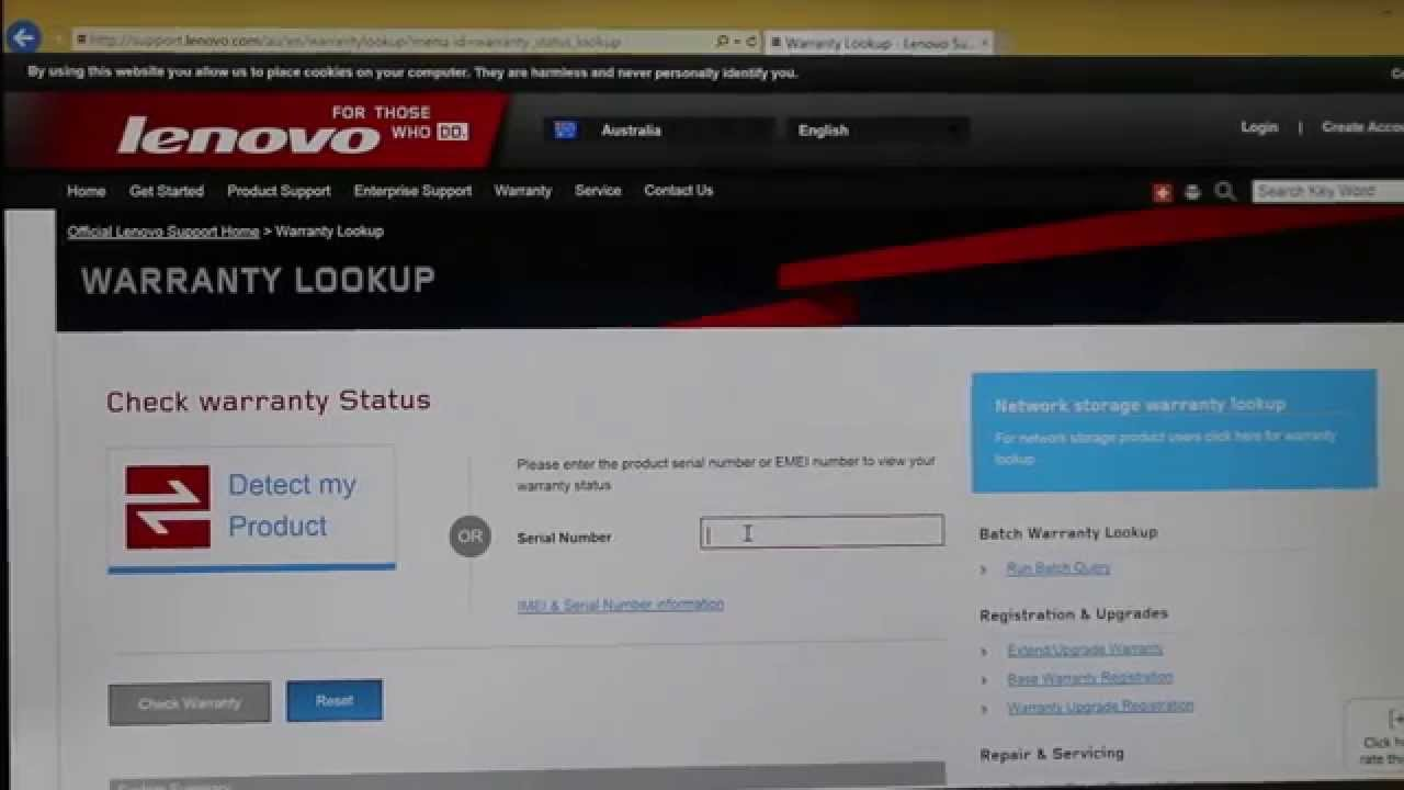 How to check the status of your Lenovo warranty