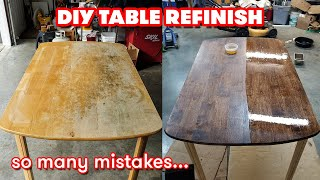 DIY | How t๐ Refinish an Old Dining Table