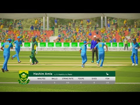 India vs South Africa - 1st ODI Match - Don Bradman Cricket 17