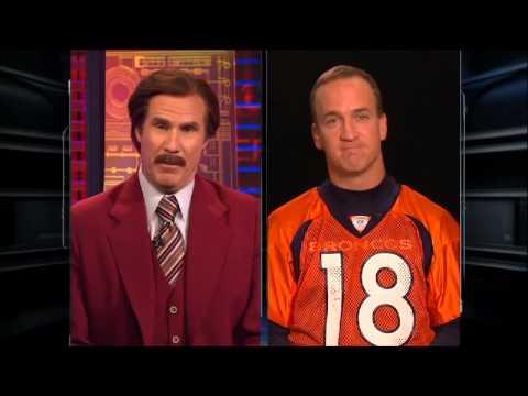ESPN The Magazine  Ron Burgundy interviews Peyton Manning