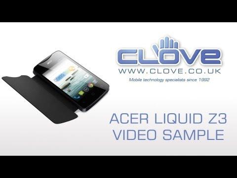 Acer Liquid Z3 Video Sample