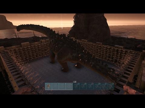 titanosaur vs 1000 auto turrets!!!!(ark survival eolved)