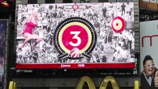Times Square Interactive Dunk Tank Billboard Webcam