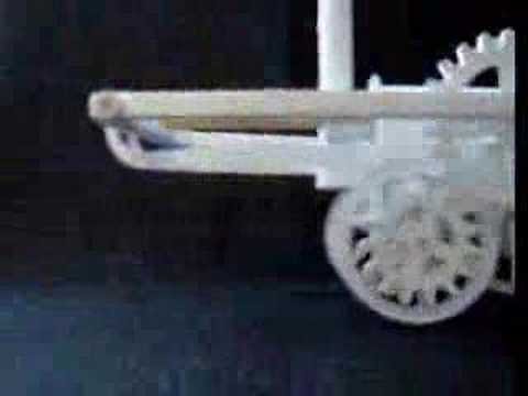 Papercraft Trevithick's steam locomotive paper model part1
