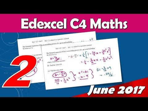 C4 Edexcel June 2017 | Question 2 Walkthrough | Binomial Expansion with Negative Power