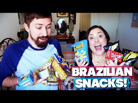 AMERICANS TRY BRAZILIAN SNACKS!