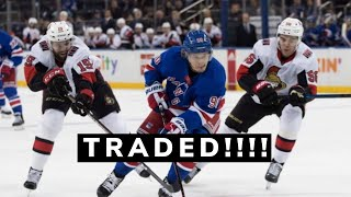 Rangers Trade Namestnikov To The Ottawa Senators!!!
