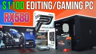$1100 Editing/Gaming PC | Time Lapse Build