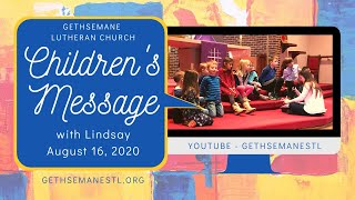 Children's Message 8 16 20 with Lindsay
