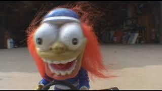 Chuck Strange  Rat Fink Toy in garage Stunts