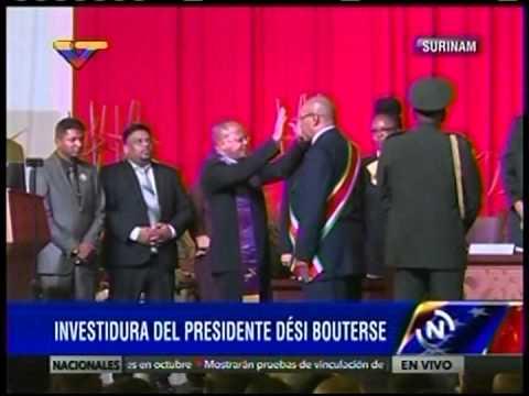 Juramentan a Dési Bouterse como presidente de Surinam