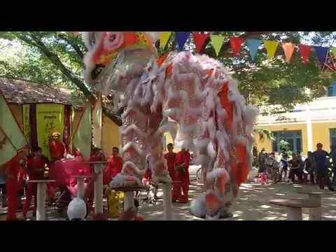Đoàn lân Sư Rồng Sen Hồng tại Quảng Ngãi