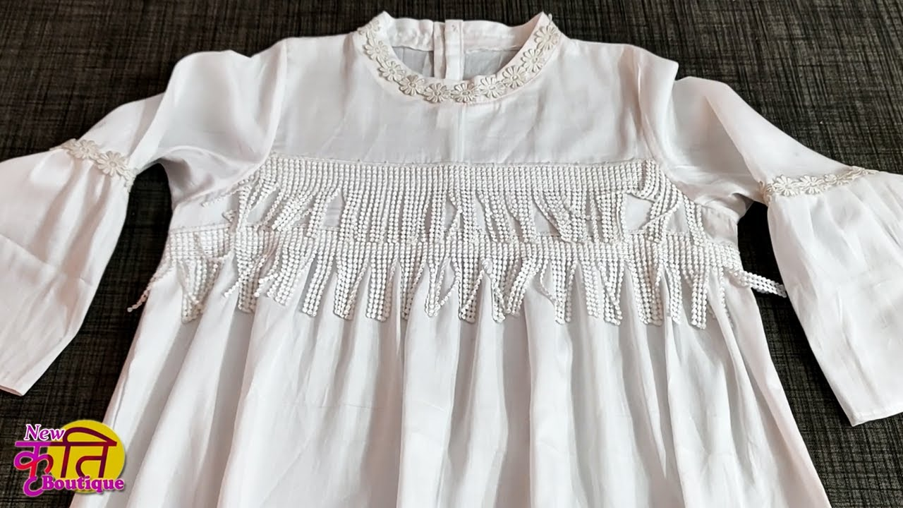 Beautiful and designer girlish top cutting and stitching || Stylish top design for girls