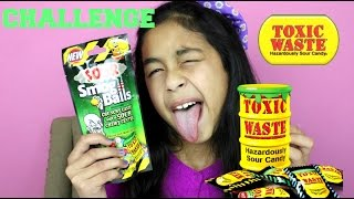 TOXIC WASTE CHALLENGE EXTREME SOUR CANDY CHALLENGE| B2cutecupcakes