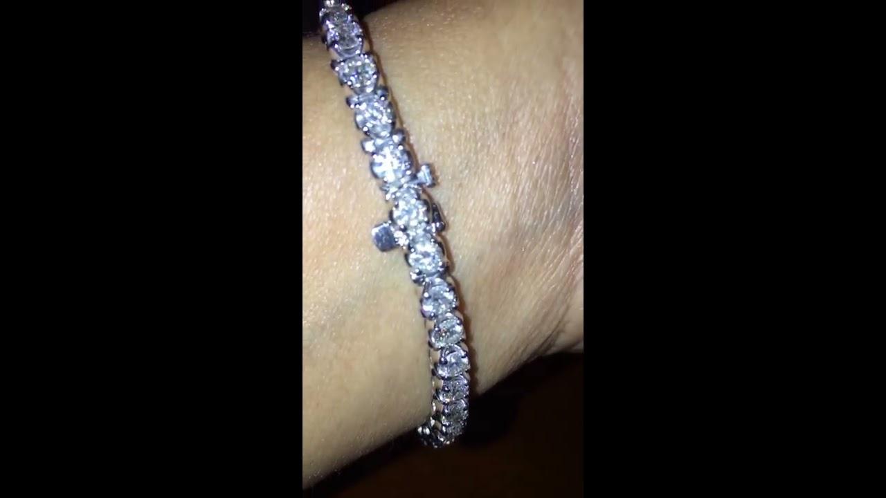 8 Carats Tw Diamond Tennis Bracelet In 14k Wg