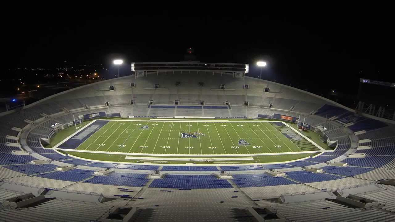 Memphis Football Liberty Bowl Field Painting Timelapse