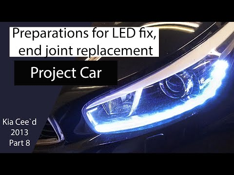 DIY How to, Preparations for LED fix – 2013 KIA Ceed SW – part 8 – Bildilla Magasin