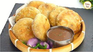 Potato stuffed mini snacks Aloo Kachori / aloo poori recipe By Tiffin Box | aloo puri for kids