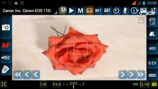 Управление зеркальным фотоаппаратом со смартфона Explay Fresh