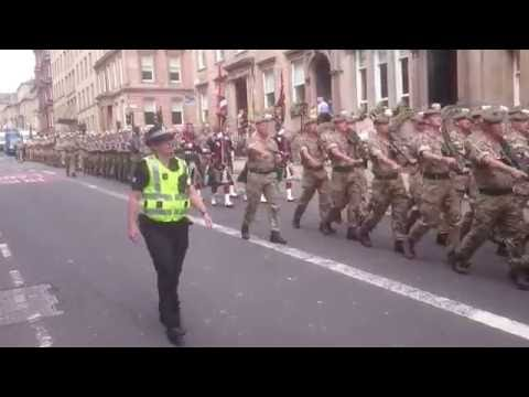 RHF 2 Scots Homecoming Parade Glasgow 2016