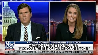 Live Action responds to verbal attack from abortion activist on Tucker Carlson