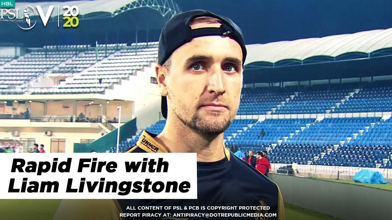 Rapid Fire with Liam Livingstone | HBL PSL 2020