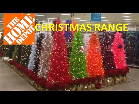 Christmas Range in HOME DEPOT with trees and outdoor displays #homedepot