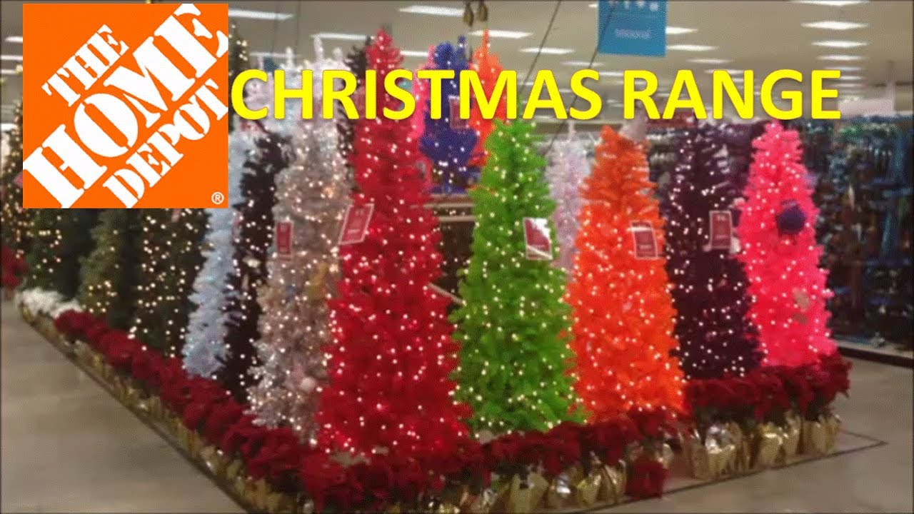 Christmas Range In HOME DEPOT With Trees And Outdoor