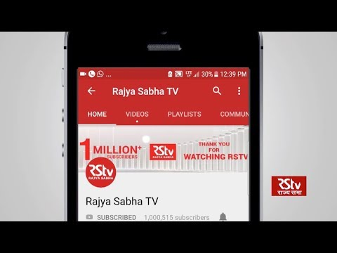 Promo - RSTV joins the million club on YouTube